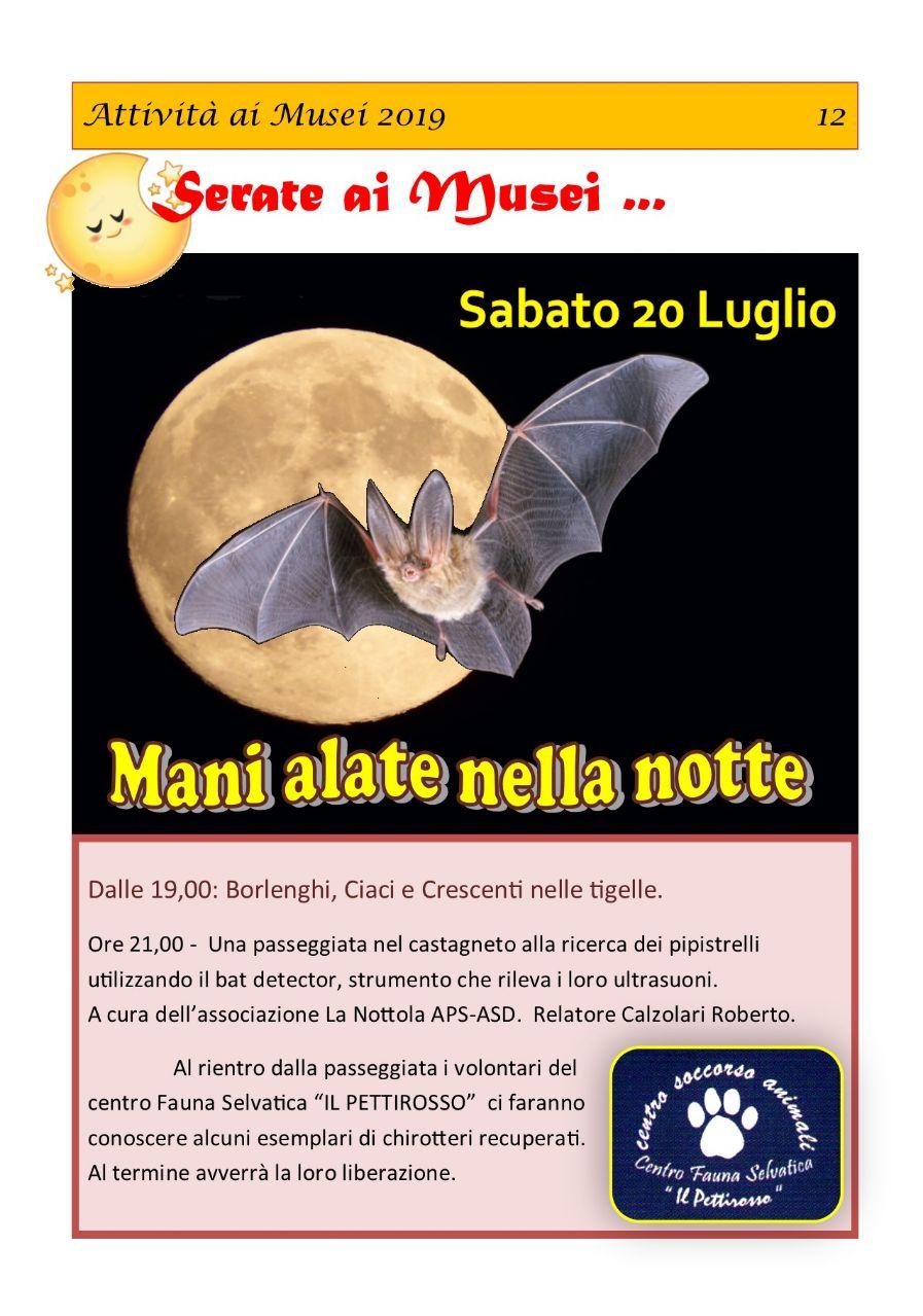 20 Luglio 2019 al Museo della Castagna S.Giacomo di Zocca ore 21.00 circa